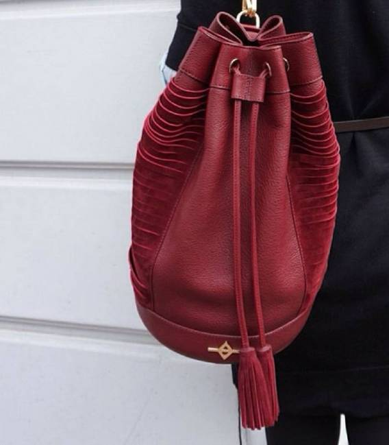 KUHN Burgundy bag