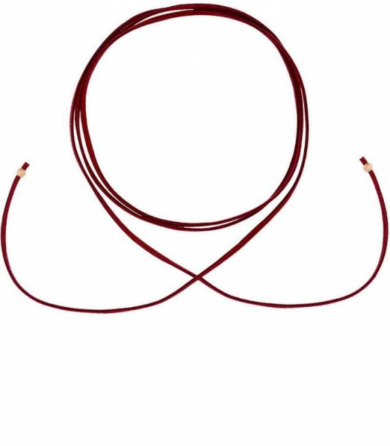 Burgundy Suede CHOKER & 18k Rose gold Silver plated Beads