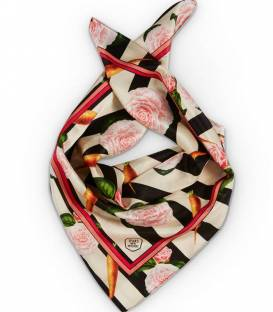 Carrots & Roses Silk scarf no frame