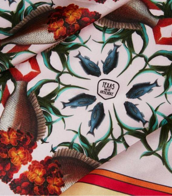 Wallflower Fish Silk scarf