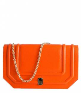 Shallow clutch Bag Orange