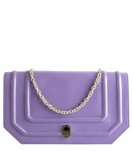 Shallow clutch Bag Purple